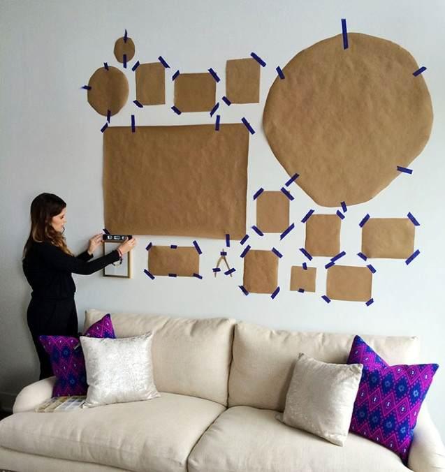 Как приклеить фотографии на стену
