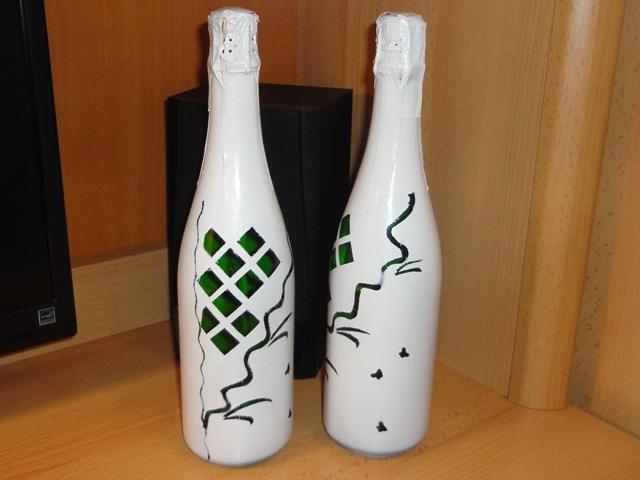 Мастер класс украшение бутылок на свадьбу своими