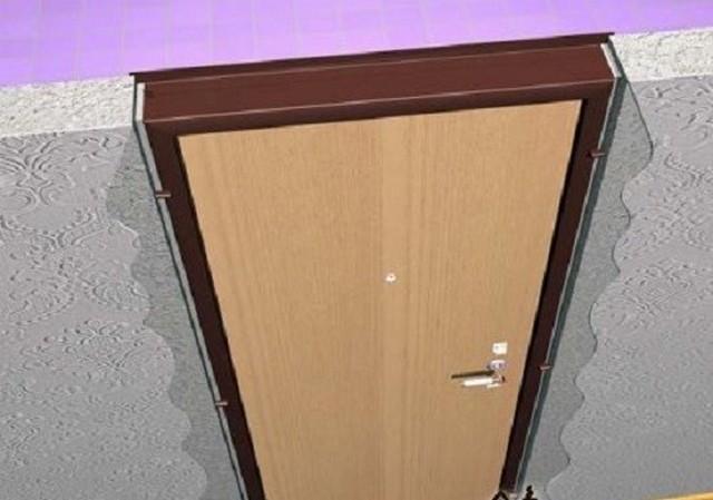 Как самому установить металлическую дверь
