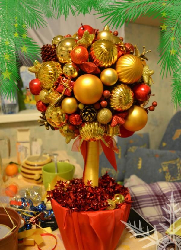 Новогоднее дерево своими руками фото