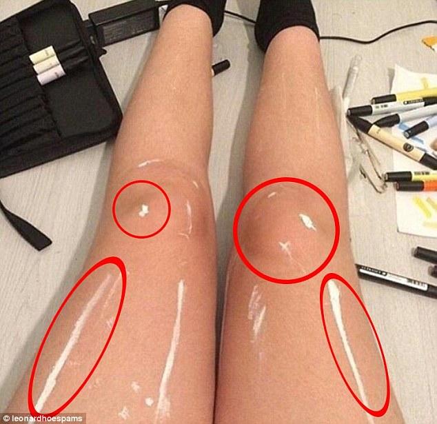 Новая иллюзия: эти ноги блестят или в краске?