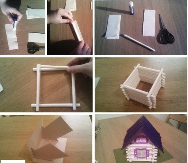 Макеты домов для детей своими руками фото