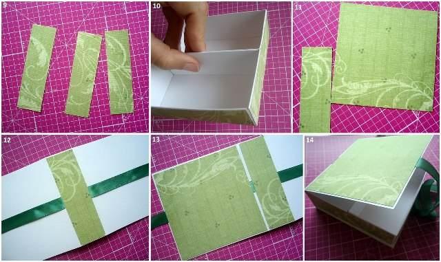 Бумажная шкатулка своими руками