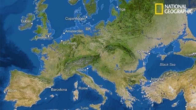 Что бы выглядел мир, если бы весь лед на Земле растаял?