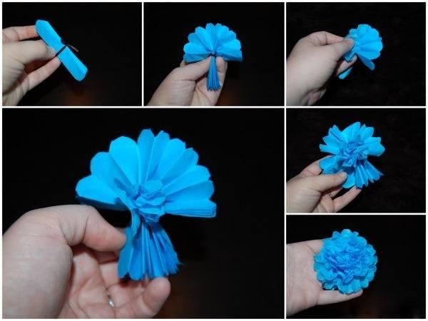 Цветы гармошка из бумаги своими руками