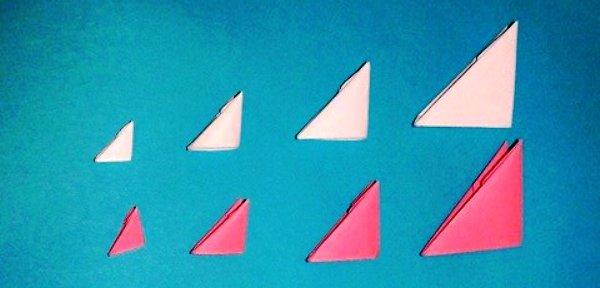 ...инструкция о размере, количестве и цвете модулей, которые вы будете использовать при изготовлении торта оригами.