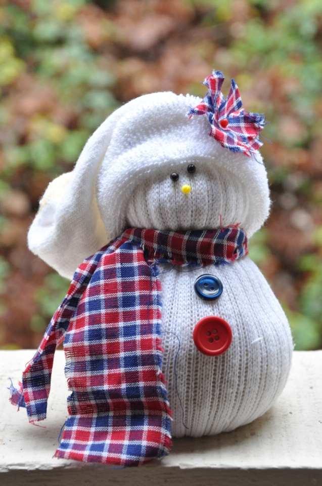 Нос снеговика из картона своими руками