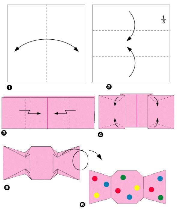 Как сделать конфету из бумаги своими руками фото