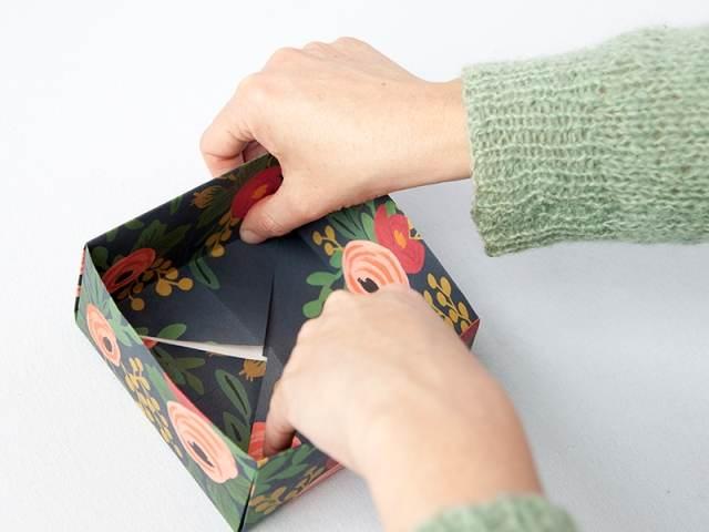 Упаковка подарков своими руками коробка схема