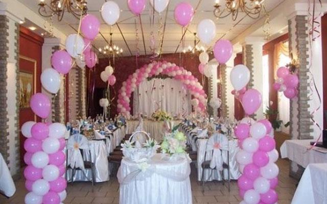 Украсить зал для свадьбы своими руками