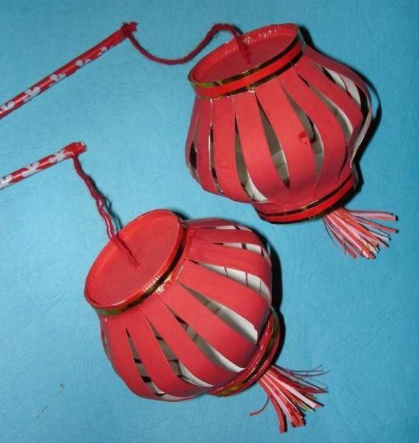 Поделка из китайских фонариков