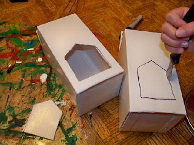 Кормушка из картона видео