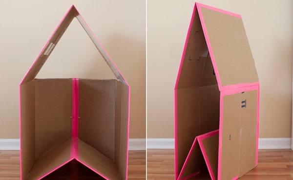 Домик из картона как сделать самим