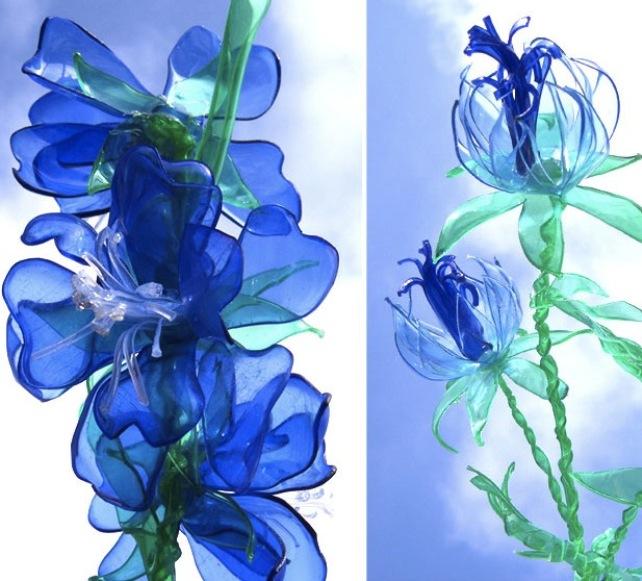 Своими руками цветы из пластмассовых бутылок