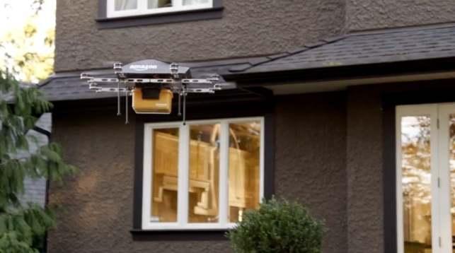 Беспилотник для доставки товаров от Amazon и другие дроны