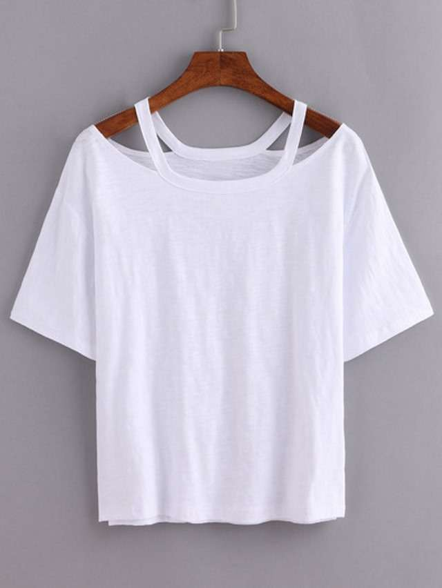 Модные белые майки