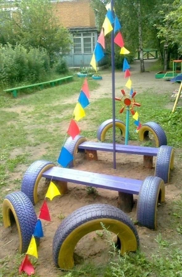 Оформления детской площадки своими руками фото
