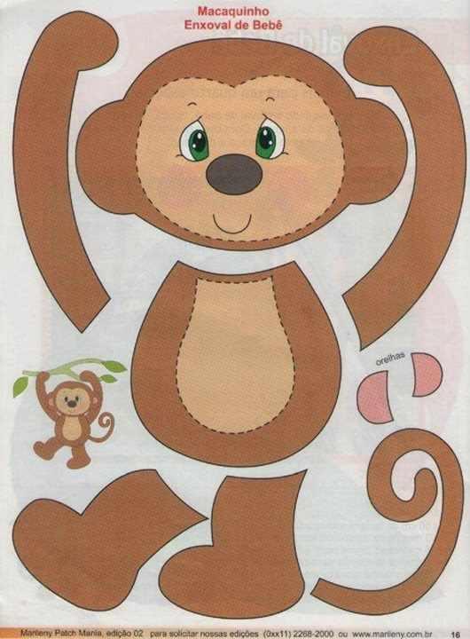 Выкройка обезьяна к новому году
