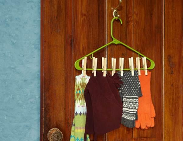 Repurposed hangers hat glove hanger ss