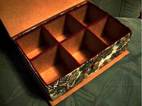 Сделать шкатулку своими руками из коробки из под обуви