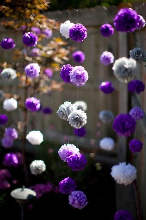 Гирлянда цветы из бумаги своими руками