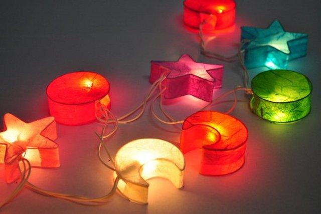 Гирлянды своими руками новогодние фонарики