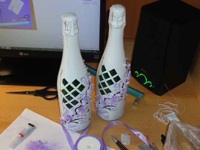 Невеста на шампанское своими руками