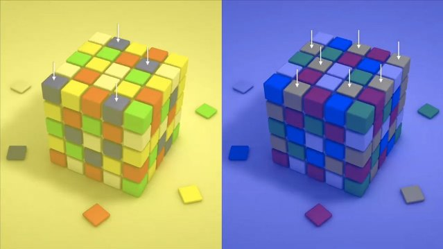 Как сделать рисунок кубиками