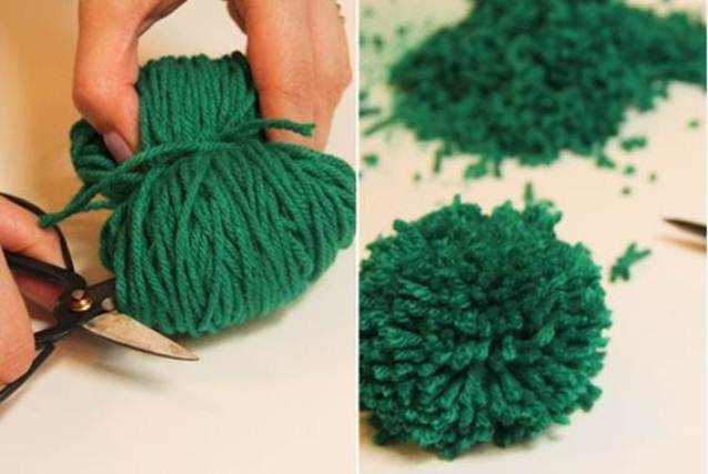 Видео как сделать коврик из помпонов своими руками
