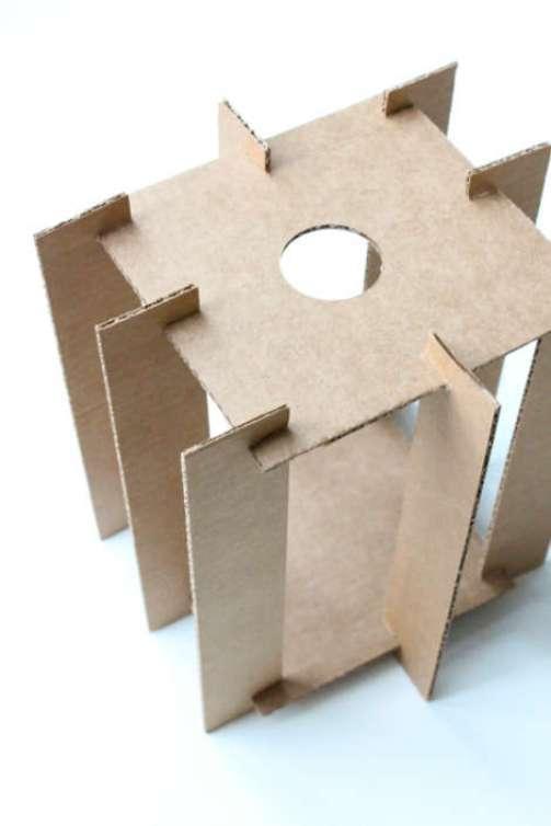 Сделать люстру из картона