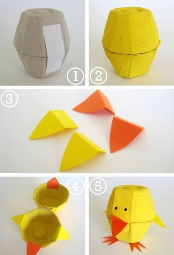 Поделки из бумажной упаковки для яиц 52
