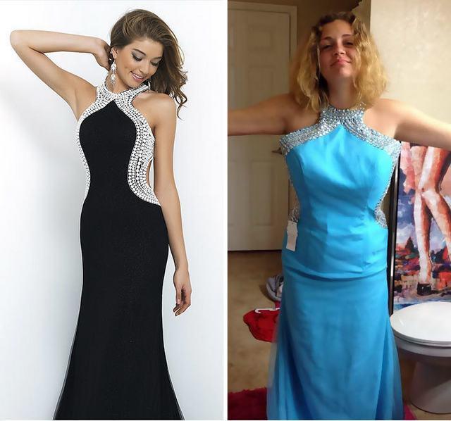 Платья на выпускной, купленные через Интернет: ожидание и реальность