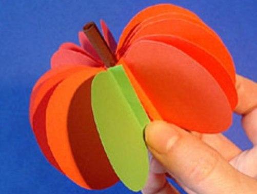Как сделать яблоко объемное из бумаги