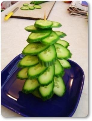 Как сделать елку из овощей своими руками