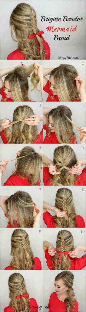 Красивые прически на средние волосы своими руками поэтапно