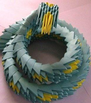 Оригами модульное ваза схема.
