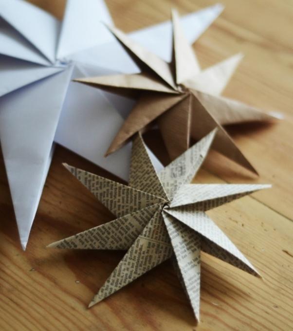 Как сделать оригами-звезду