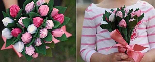 Тюльпан своими руками из конфет фото 749