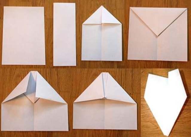 Самолет из бумаги своими руками фото поэтапно