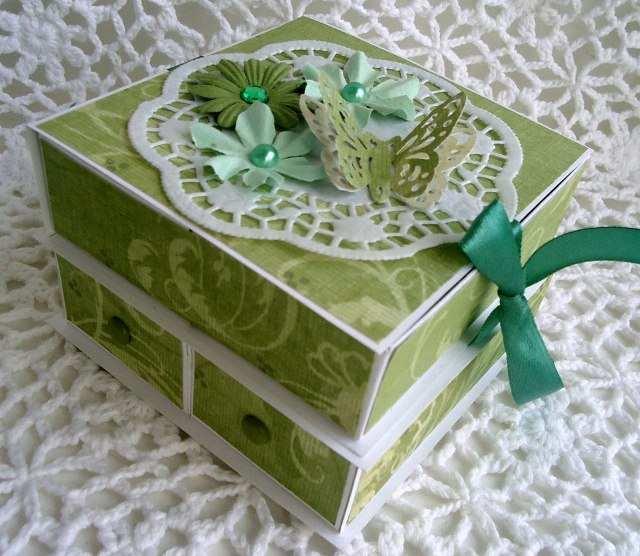 Как украсить шкатулку из картона своими руками