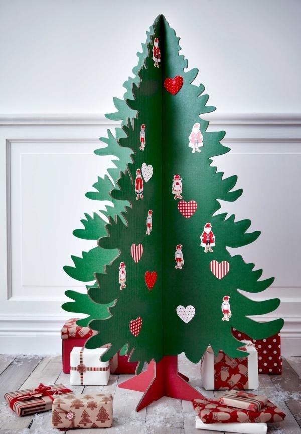 Большая елка из бумаги своими руками фото