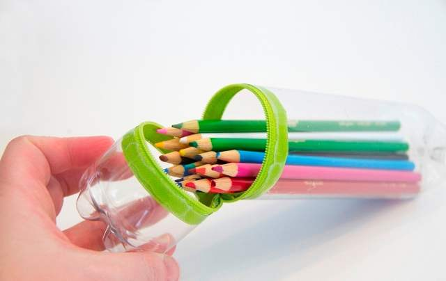 Пенал для карандашей своими руками из пластиковой бутылки