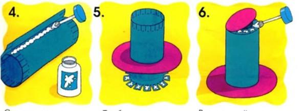 Как сделать цилиндр шапку из бумаги