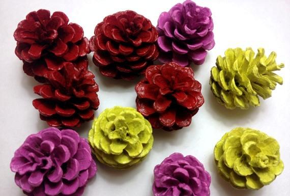 Розы своими руками из шишек 18