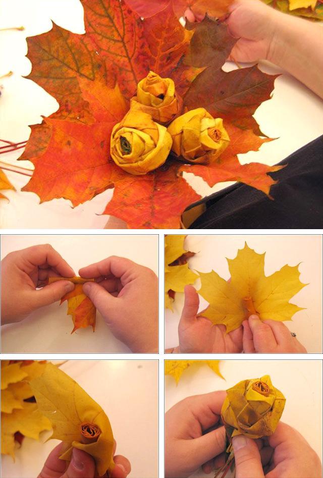 Поделки на осень своими руками из листьев