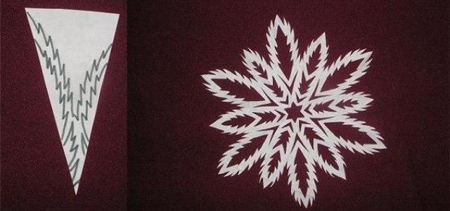 Как сделать снежинку (видео)
