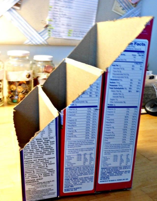 Органайзер для бумаги из коробки как сделать 68