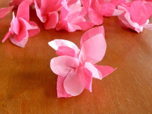 Цветок сакура своими руками