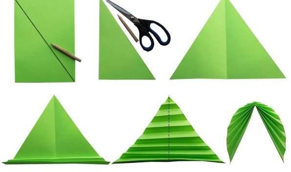 Как сделать 3d листок из бумаги