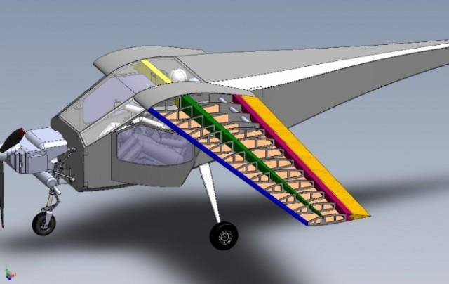 Как сделать легкое крыло самолета